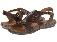 Lobo Solo Natural T Strap Brown Leather Women's Flat Shoes