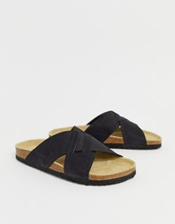 Pier One Cross Over Sandals In Black