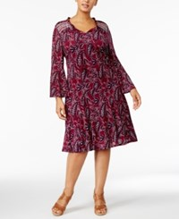 Style And Co Plus Size Printed Peasant Dress Only At Macy's Finley Orchard