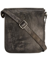 Patricia Nash Men's Roma Italian Leather Crossbody Bag Grey