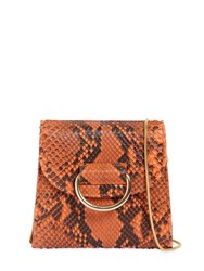 Little Liffner Tiny Box Python Shoulder Bag Orange