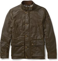 Belstaff Tourmaster Waxed Cotton Jacket Green