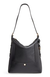 Lodis In The Mix Emerson Rfid Leather Hobo Bag Black Jet