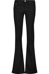 Karl Lagerfeld Kina Mid Rise Flared Jeans Black