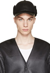 Alexander Wang Black Shearling Baseball Cap