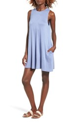 Socialite Women's High Neck Dress Blue