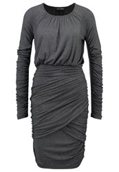 Stine Goya Balance Jersey Dress Dark Grey Melange Mottled Dark Grey