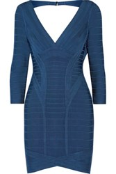 Herve Leger Bandage Mini Dress Blue