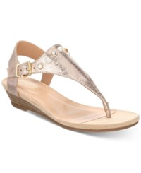 Kenneth Cole Reaction Women's Great Mix Wedge Sandals Women's Shoes Rose Gold