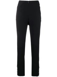 Chanel Vintage High Waist Tailored Trousers Black