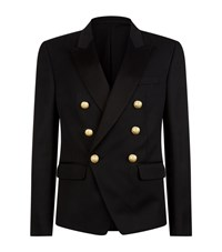 Balmain Double Breasted Gold Button Jacket Male Black
