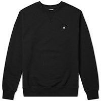 Wood Wood Tye Crew Sweat Black