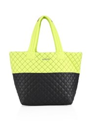 M Z Wallace Quilted Metro Tote Neon Yellow