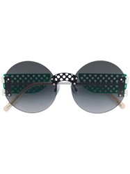 Oxydo Round Tinted Sunglasses Green