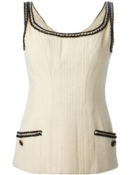 Chanel Vintage Corset Top Nude And Neutrals