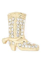 Cara Women's Crystal Cowboy Boot Brooch