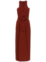 Andrea Marques Knot Midi Dress Red