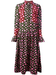 House Of Holland Dotted Multicolour Shirt Dress