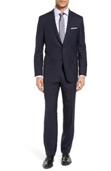 Hickey Freeman Men's Beacon Classic Fit Check Wool Suit