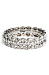 St. John Women's Collection Set Of 3 Swarovski Crystal Bangles