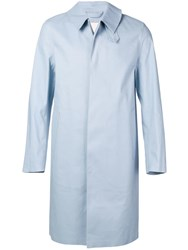 Mackintosh Single Breasted Raincoat Blue