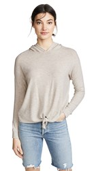 Beyond Yoga Brushed Up Tied Up Hoodie Oatmeal Heather