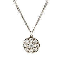 Renee Lewis Women's White Diamond Disc Pendant Necklace No Color