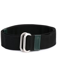 Marni Loop Strap Belt Men Calf Leather Polyamide Polyester Tin M Black
