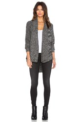 Lamade Lightweight Cable Open Cardigan Charcoal