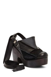 Free People Patchwork Clog Black