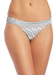 Asceno Reversible Ruched Bikini Bottom Blue