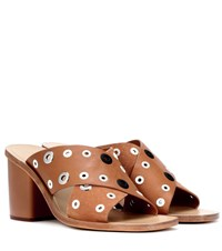 Rag And Bone Paige Leather Suede Sandals Brown