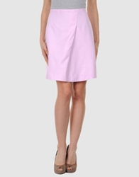 State Of Claude Montana Knee Length Skirts Pink