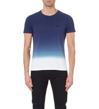 Burberry Dip Dye Cotton T Shirt Dark Ultramarine