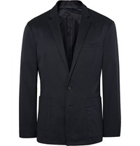 Saturdays Surf Nyc Navy Nomad Stretch Cotton Canvas Blazer Blue
