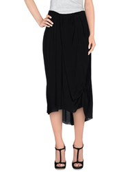 Manila Grace Skirts 3 4 Length Skirts Women Black