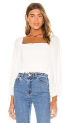 Show Me Your Mumu Mindy Top In White.