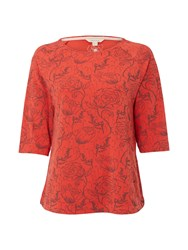 White Stuff Early Blooms Print Jersey Tee Red
