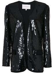 Carolina Herrera Sequinned Boxy Blazer Black