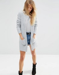 Asos Ultimate Chunky Cardigan Grey
