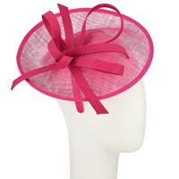 John Lewis Bea Disc And Quill Occasion Hat Fuchsia