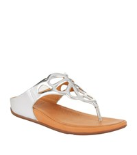 Fitflop Bumble Leather Sandals Female Silver