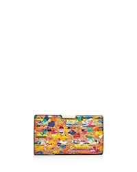 Milly Splatter Cork Small Frame Clutch Multi Gold