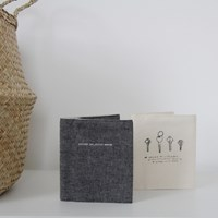 O Check Designs Linen Business Card Album