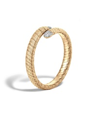 Classic Chain 18K Single Coil Diamond Bracelet John Hardy