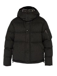Burberry Cashmere Down Filled Padded Jacket Grey