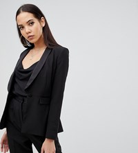 Asos Design Tall Tux Suit Blazer Black