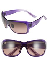 Maui Jim Women's 'Seven Pools' 62Mm Polarized Sunglasses Purple Fade Rose Purple Fade Maui Rose