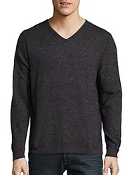 Weatherproof Vintage Cotton And Cashmere V Neck Pullover Ebony