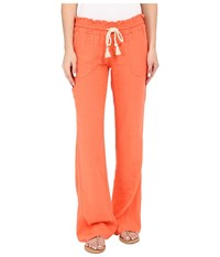 Roxy Ocean Side Pant Living Coral Women's Casual Pants Orange